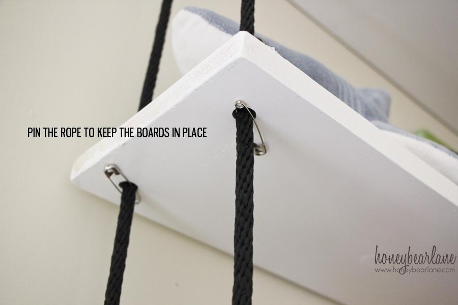 ロープ シェルフ 棚 DIY