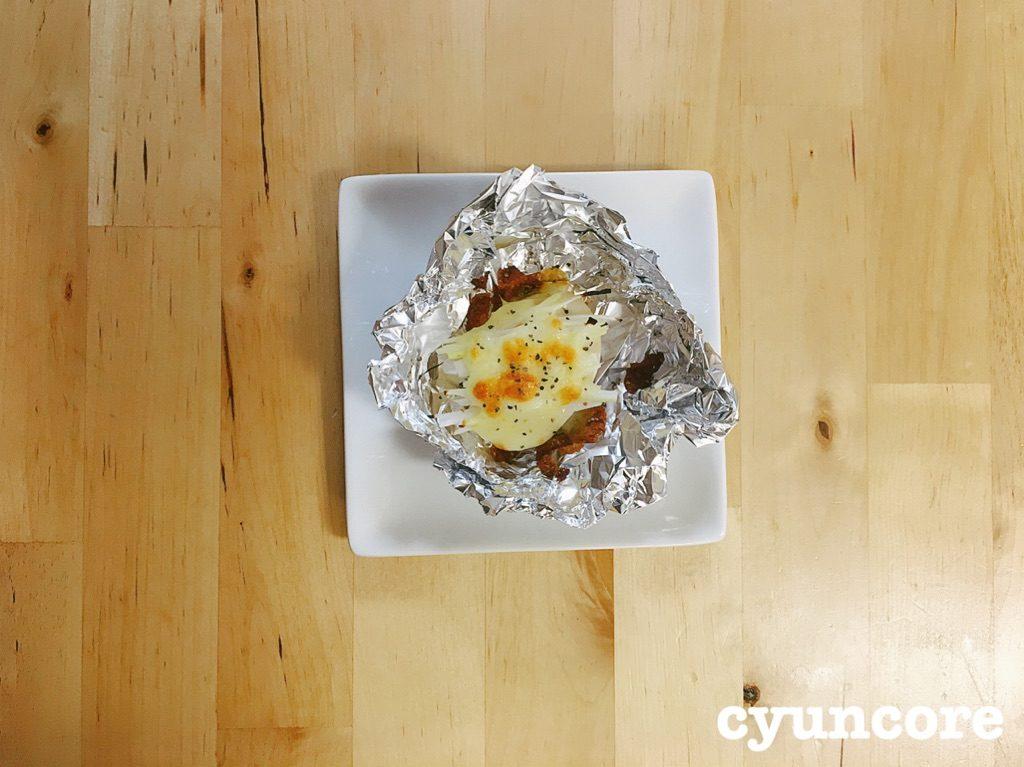 レシピ④ネギとチーズ焼き