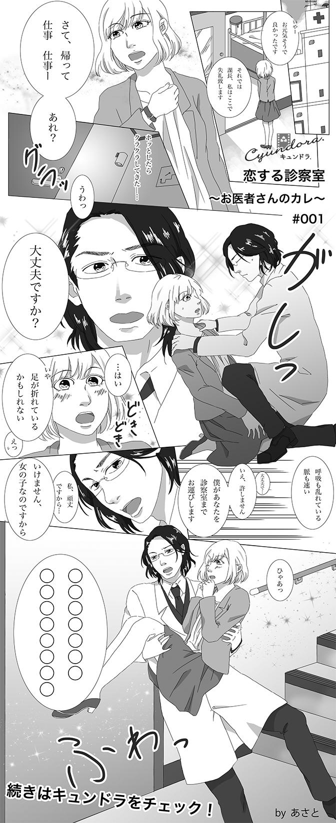 【妄想マンガ】恋する診察室 ~お医者さんのカレ~ #001