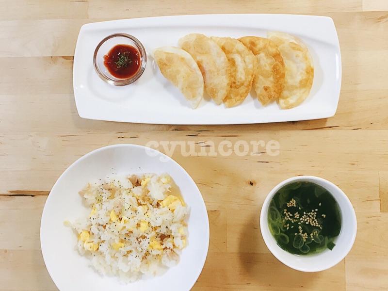 簡単献立!「炒飯」・「揚げ餃子」・「中華スープ」