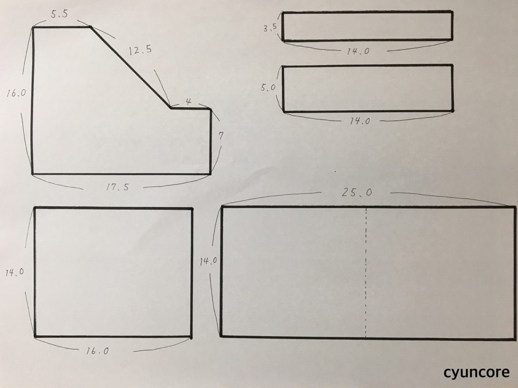手順①: 型紙をカットする