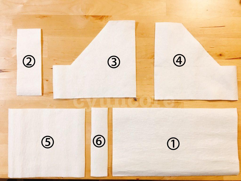 手順①: 型紙をカットする-2