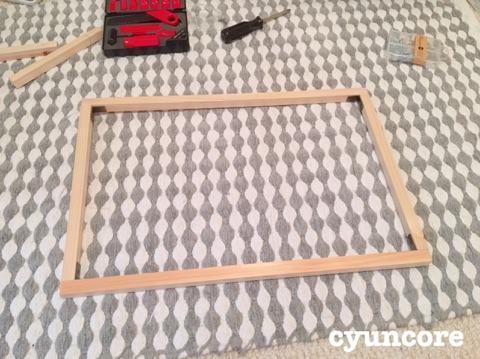 枠作り!天井を固定する