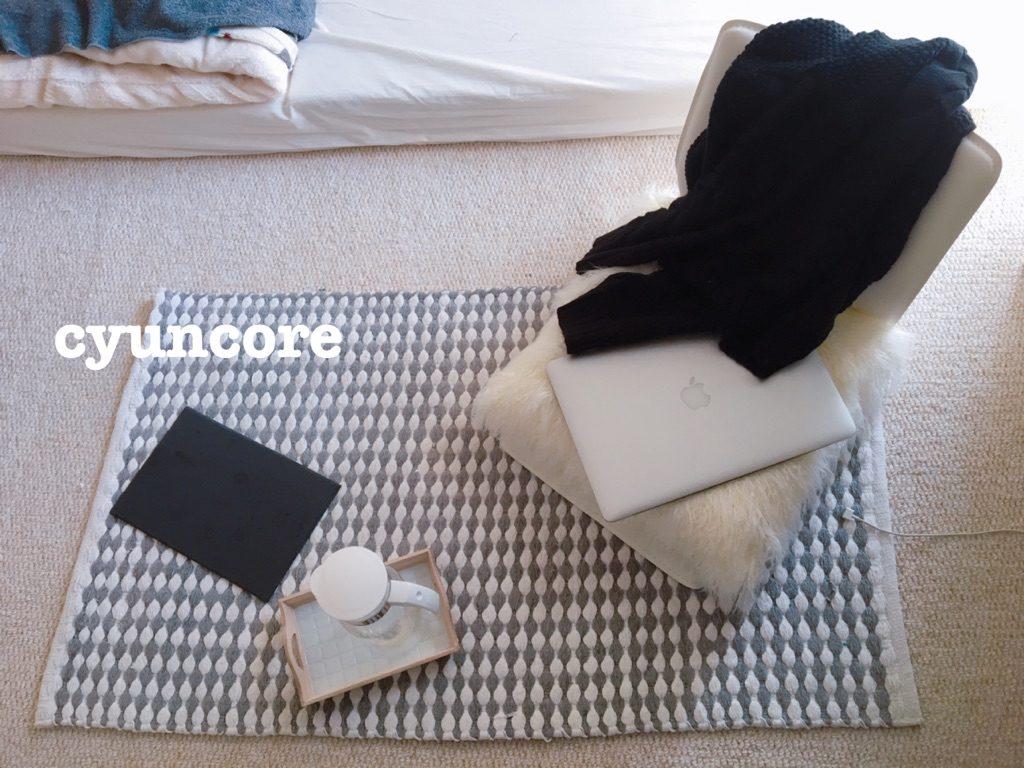 購入品①コンパクトモダン座椅子(リアムWH)-2