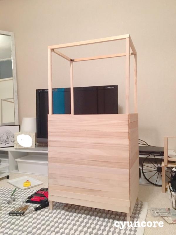 枠作り!天井を固定する-2