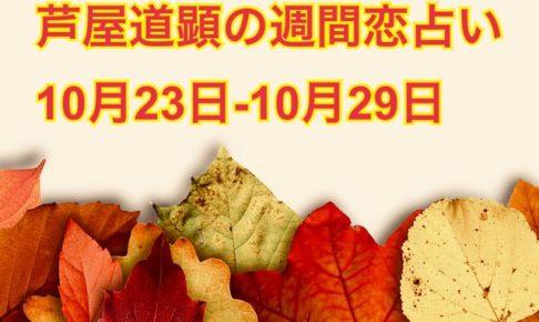10/30-11/5の恋愛運も公開済です【今週の恋愛運】10/23-10/29の恋愛運【芦屋道顕の音魂占い】
