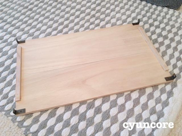 すのこ板に棚板を付ける-2