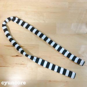 手順②袖から腰紐と首紐をつくる-5