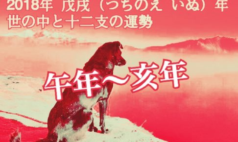午年〜亥年【2018年の年運】十二支別の運勢・恋愛運【芦屋道顕】