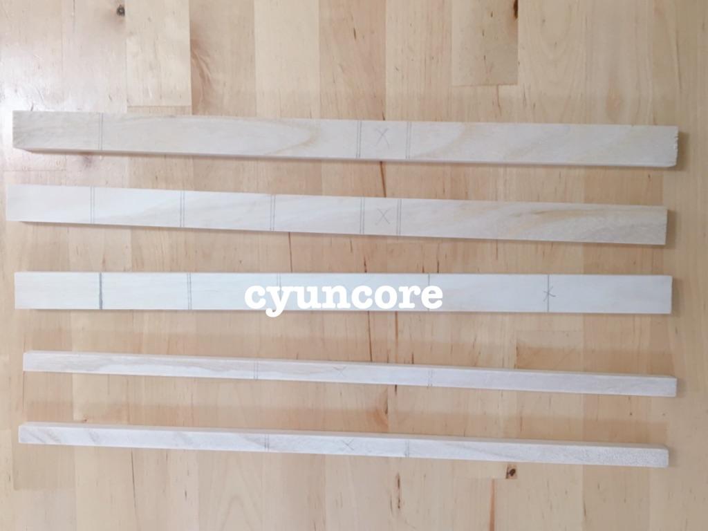 エアコン室内配管のダクトのDIY用木材
