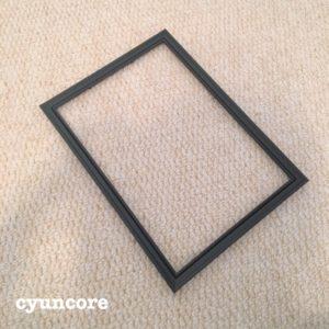 天袋の襖に100均ダイソーのフォトフレームを貼り付ける-2