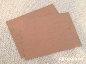 天袋の襖に100均ダイソーのフォトフレームを貼り付ける-4
