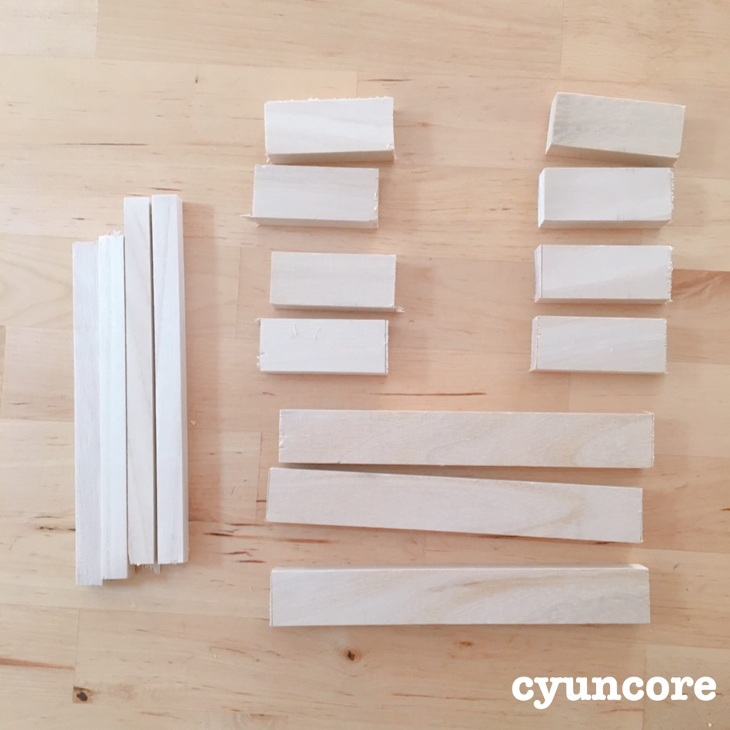エアコン室内配管のダクト部分をカバーするための木材
