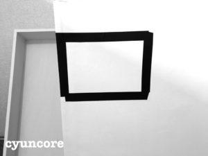 天袋の襖に100均ダイソーのフォトフレームを貼り付ける-6