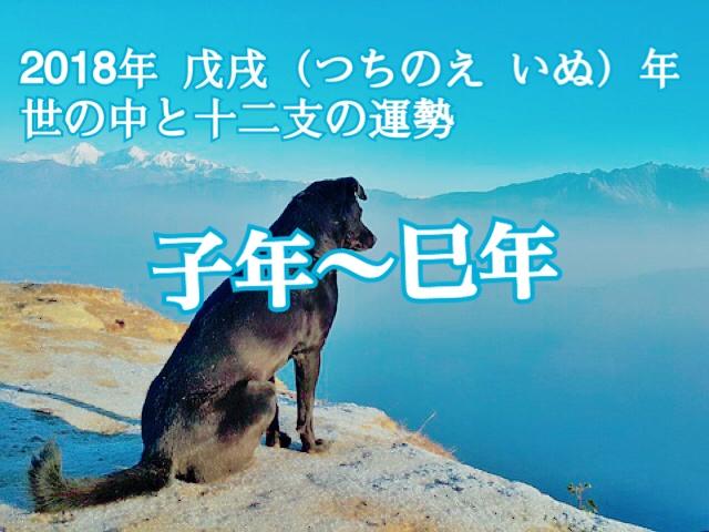 子年〜巳年【2018年の年運】十二支別の運勢・恋愛運【芦屋道顕】
