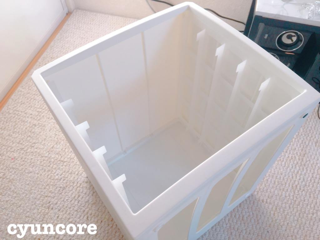 レターケースをスツール風収納ボックスにDIY②作り方