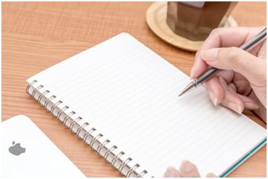6.怒りを紙に書き出す