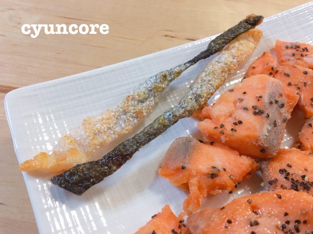 レシピ①鮭皮のパリパリ焼き