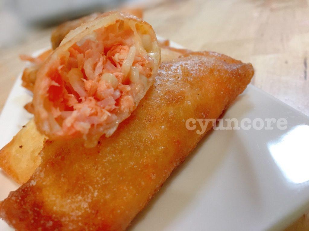 レシピ③鮭の春巻き