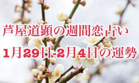 1月29日-2月4日の恋愛運【芦屋道顕の音魂占い】