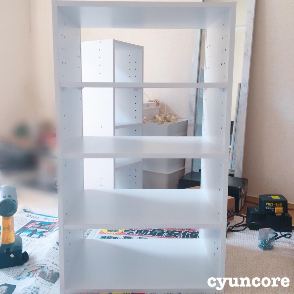 カラーボックスを組み立てる-2