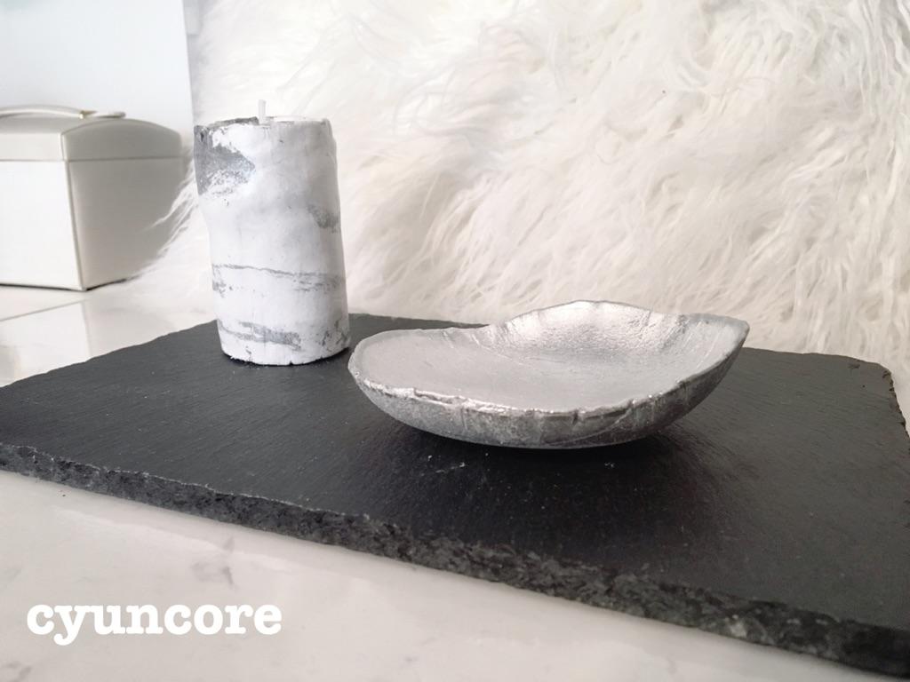 100均の紙粘土がおしゃれな雑貨に大変身!超簡単に作れる小物入れとキャンドルスタンド