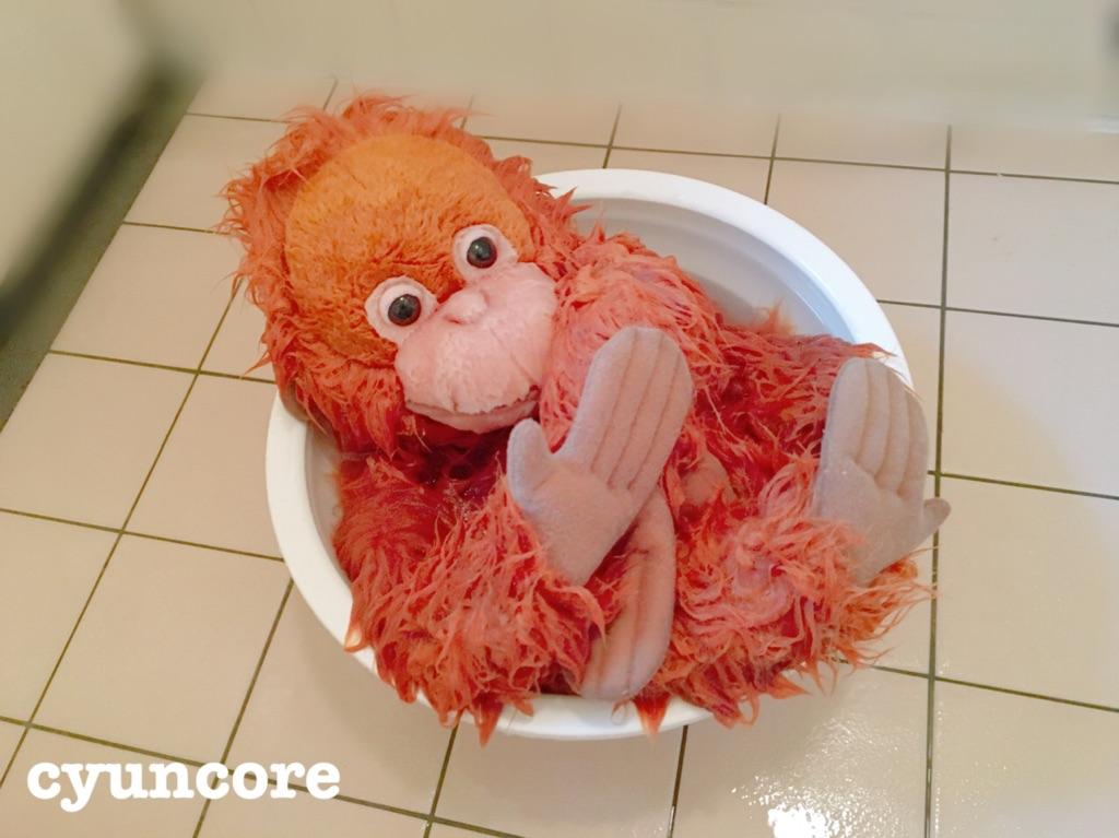 ぬいぐるみの洗濯方法・失敗しないコツ②洗濯機の脱水に5分かける