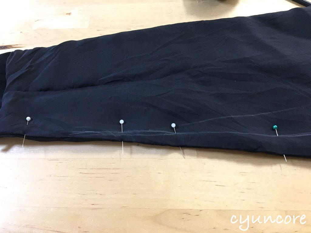 ジャケットの袖ぐり・腕周りを細くする方法①腕周りを細くする-3