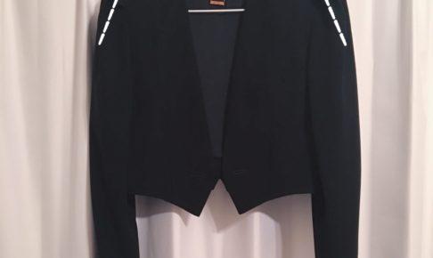 ジャケットの袖ぐり・腕周りを細くする方法<30年前の礼服リメイク②>