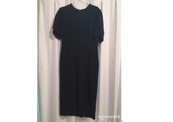 ワンピースの肩幅・丈を詰める方法<30年前の礼服リメイク③>