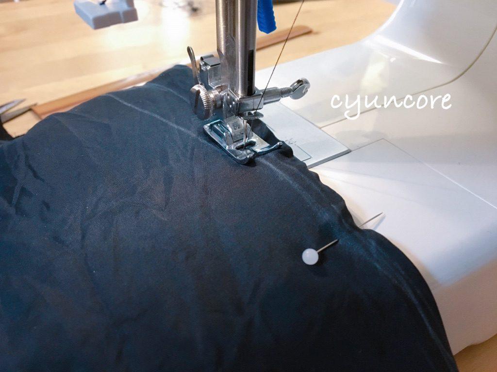 ジャケットの袖ぐり・腕周りを細くする方法①腕周りを細くする-4