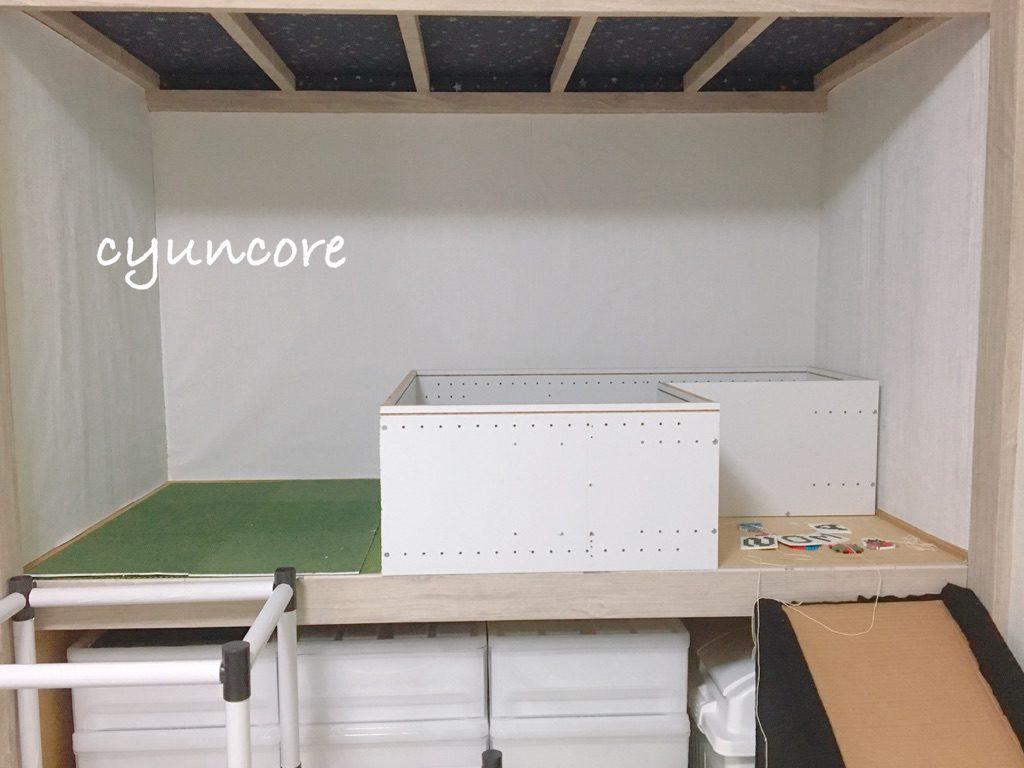 ボールプールをDIY②カラーボックスを組み立てる-3