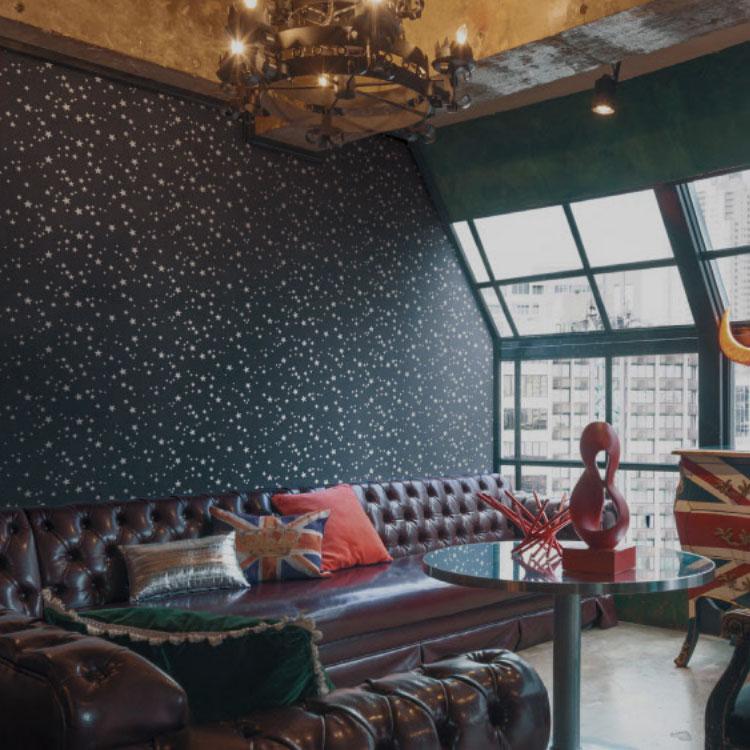 キッズスペースの壁紙DIY①天井に壁紙を貼る-4