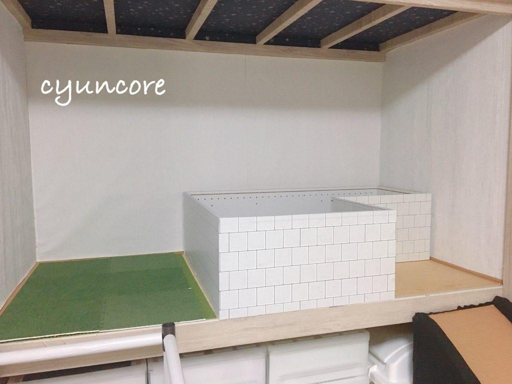 ボールプールをDIY②カラーボックスを組み立てる-4