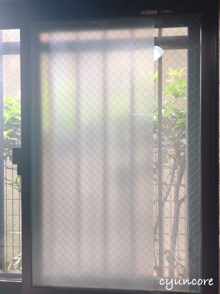 出窓の障子をリメイク②窓に目隠しシートを貼る-2