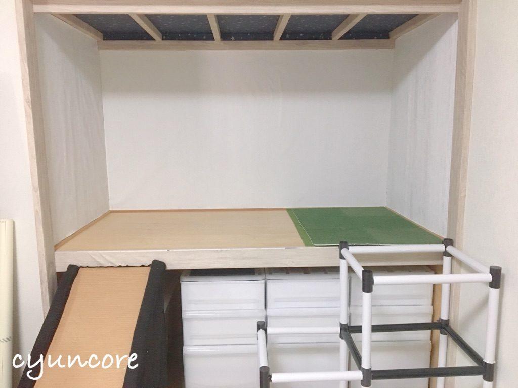 キッズスペースの壁紙DIY③押入れ周りも馴染ませる-2