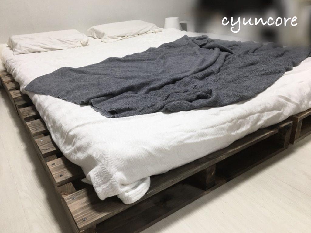 木製パレットのベッドが完成しました!-2