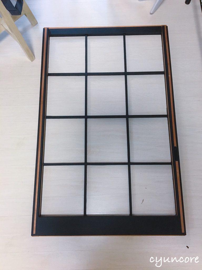 出窓の障子をリメイク③障子にマスキングテープを貼る-5