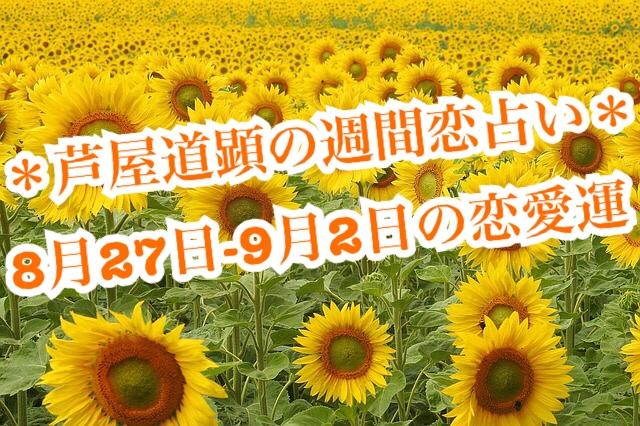8月27日-9月2日の恋愛運【芦屋道顕の音魂占い★2018年】
