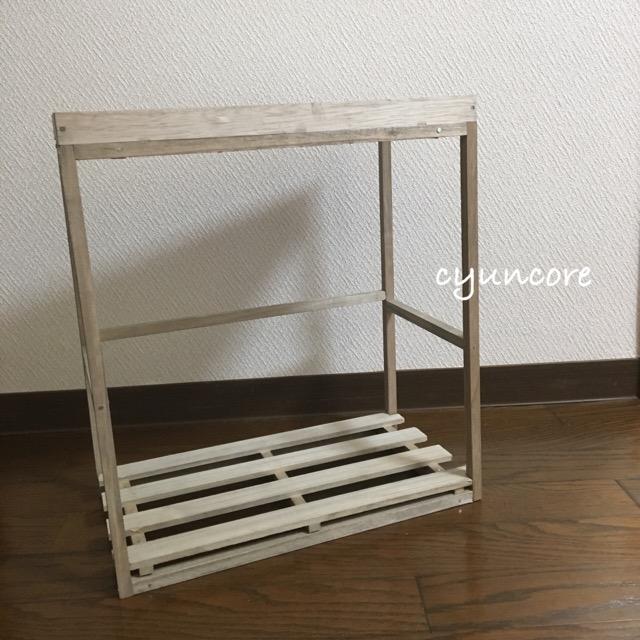 そうめんの木箱を絵本棚にリメイク②100均の木材とそうめんの木箱を組み立てる-6