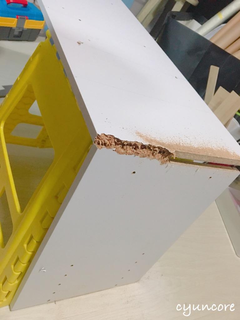 カラーボックスを処分する時は小さくすることで燃えるゴミに出せる-2