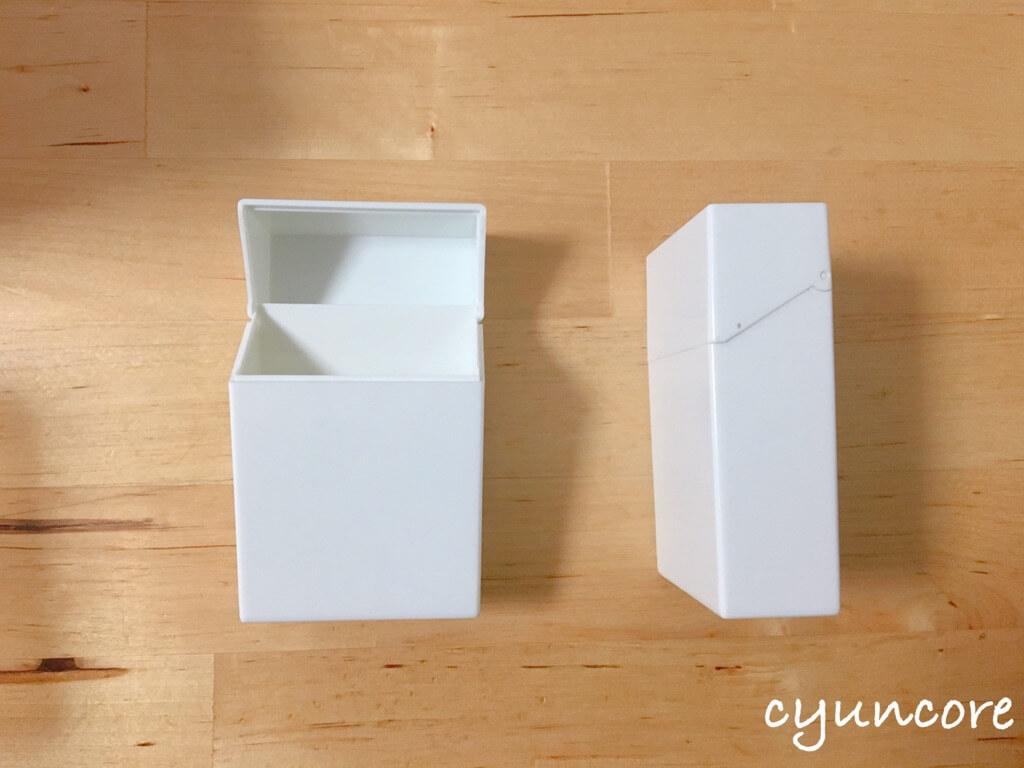 セリア購入品③プラスチックタバコケース(モノクロ)