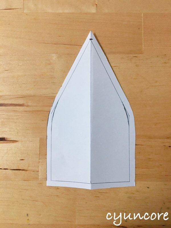 2018年ハロウィン インクレディブル・ファミリーのカツラの作り方①型紙を作る-3