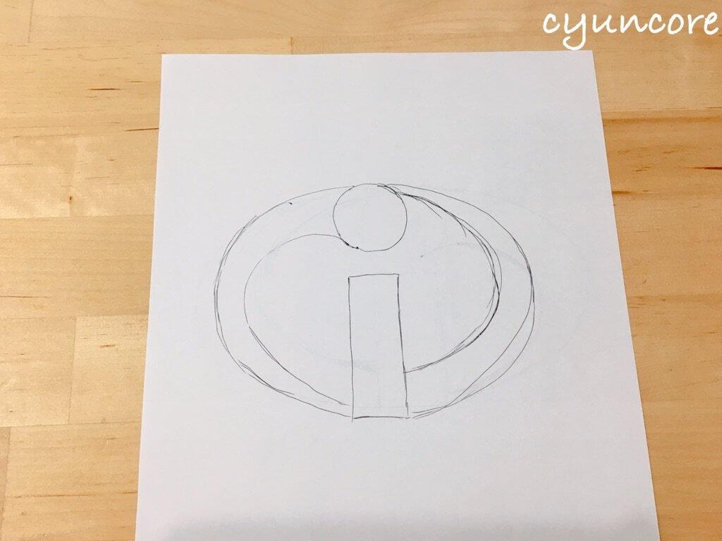 2018年ハロウィン インクレディブル・ファミリーのコスプレ作り方①ロゴの型紙を作る-2