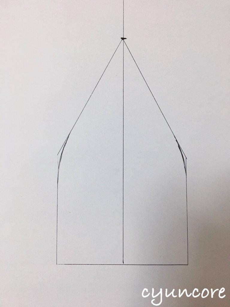 2018年ハロウィン インクレディブル・ファミリーのカツラの作り方①型紙を作る-2