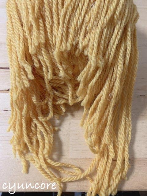 2018年ハロウィン インクレディブル・ファミリーのカツラの作り方⑧毛糸をカットして整える