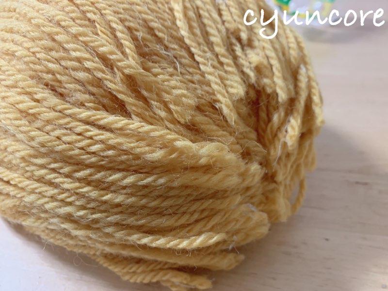 2018年ハロウィン インクレディブル・ファミリーのカツラの作り方⑧毛糸をカットして整える-2