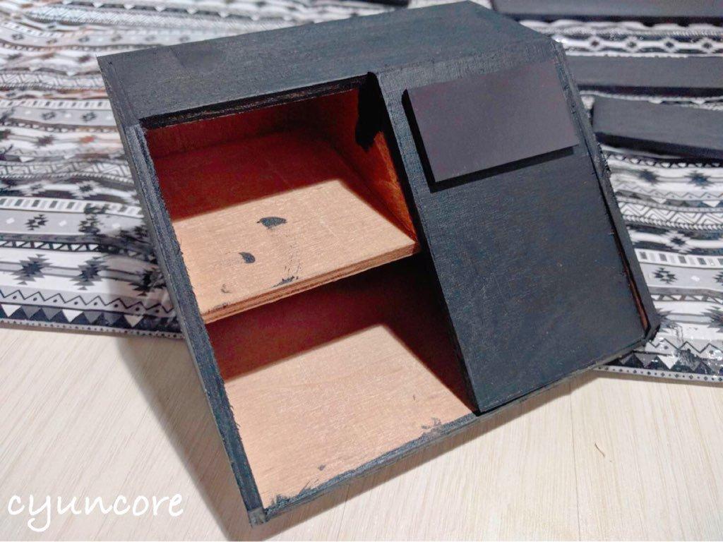 100均セリアの材料でままごとレジスターをDIY⑤レシートプリンター代わりのマグネットを貼り付ける-2