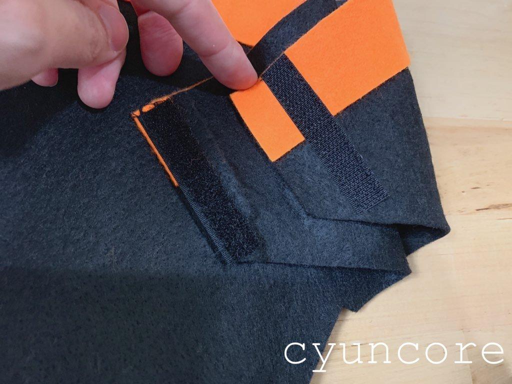 2018年ハロウィン インクレディブル・ファミリーのパンツの作り方⑤マジックテープを縫い付ける-2