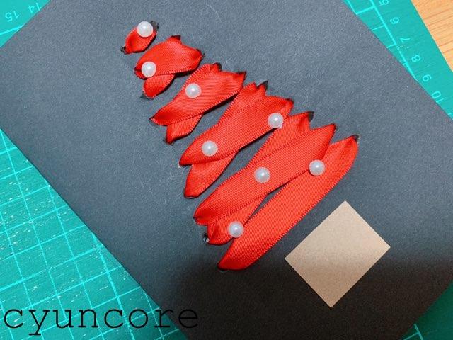 クリスマスカードの作り方③装飾する-2